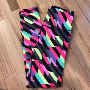 High waisted neon stripe VSX workout pants